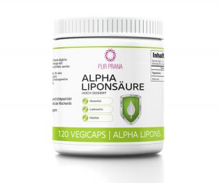 Alpha-Liponsäure hoch dosiert, 120 Vegicaps, Pur Prana