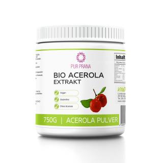 Bio Acerola Extrakt 750g Pulver - Pur Prana - Vitamin C