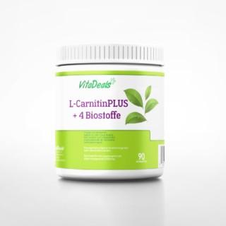 L-Carnitin PLUS + 4 Biostoffe, höchste Wirksamkeit 90 Kautabletten
