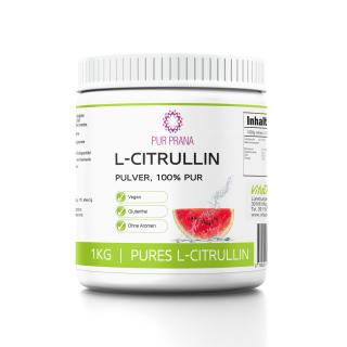 L-Citrullin 100% - Base Pulver 750g, Pur Prana