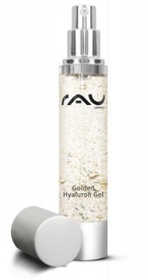 RAU Golden Hyaluron Gel 50 ml - luxuriöse Hautpflege mit 23kt Gold, Jujube, Hyaluronsäure