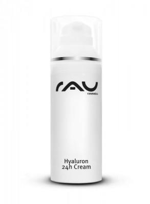 RAU Hyaluron 24h Cream 50 ml - Creme mit Hyaluronsäure, Sheabutter, Avocadoöl und aus der Olive