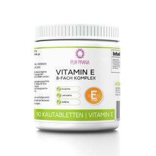 Vitamin E-Komplex 8-fach 90 Kautabletten Pur Prana