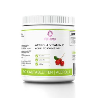 Acerola Vitamin C Komplex 900 mit OPC von Pur Prana