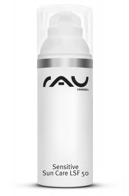 RAU Sensitive Sun Care LSF 50 Sonnengel mit Sheabutter im hygienischen 50 ml Airless Spender