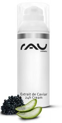 RAU Extrait de Caviar 24h Creme 50 ml - Topseller, für bedürftige Haut mit Q10 - AIRLESS